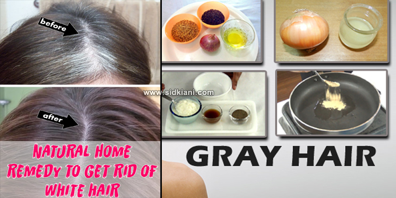 How To Get Rid Of Gray Hairs With Kitchen Ingredients