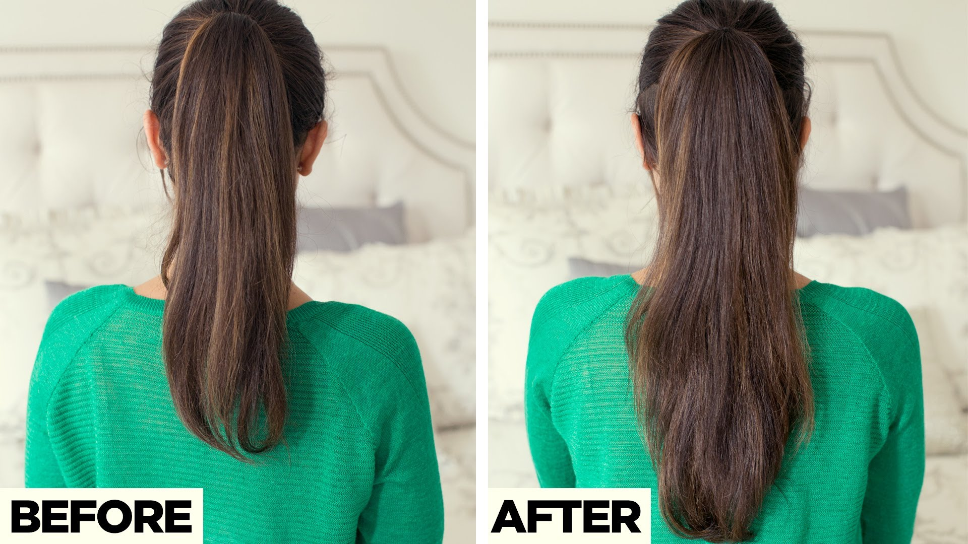 How to Make Your Hair Look Longer in Just 2 Minutes!