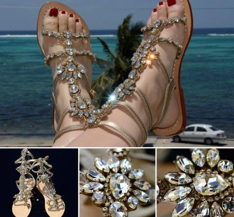 Gorgeous Jeweled Shoes Pasha