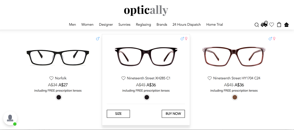 Optically uses technology to ease the process of buying glasses ...