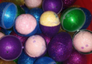 SALE!!Easter eggs filled with bath bombs with surprises inside the bath bombs